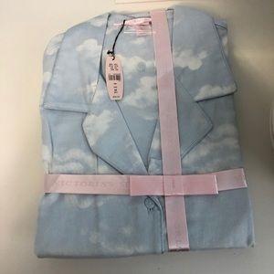Victoria's Secret New Cotton Pajamas M Blue LS/LP
